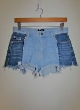 BARDOT Blue Mid Rise Distressed Denim Shorts Size 10 Small S