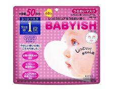 NEW KOSE - Babyish Face Mask Moisture Mask 50 sheets F/S  JAPAN
