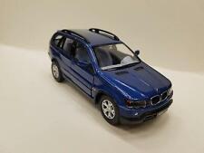 "5"" Kinsmart BMW X5 SUV Diecast Model Toy Car 1:36 Pull Action Blue"