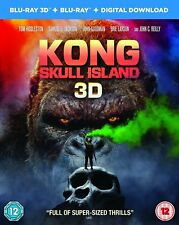 Kong: Skull Island 3D Blu-ray + Blu-ray [2017] New & Sealed