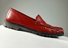 Cole Haan Country Soft Leather Red Loafer Comfort Shoes Women's Size 7.5 B