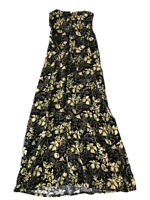 Duo Maternity Women's Floral Maternity Dress, Size Small, Floral Black