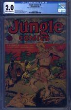 Jungle Comics #8 CGC 2.0 Powell, Tuska, Peddy, Kiefer, Bossert, Sultan, Kaanga