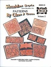 Sheridan Style Patterns for Belts, Billfolds Vol. #2 6000-33 by Hide Crafters