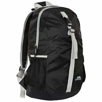 Trespass Foldaway Backpack Black Packaway Travel Rucksack