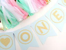 Mint & Gold Bunting. Personalised, First Birthday, Cake Smash, Hen, Baby Shower