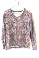 Croft & Barrow Women's Multicolored Floral Long Sleeve Shirt Size Medium
