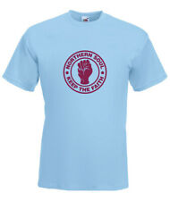 Northern Soul Claret & Blue Keep the Faith Sky Blue T-SHIRT