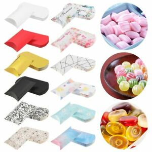 Birthday Party Wedding Supplies Pillow Shape Gift Box Candy Boxes Kraft Paper
