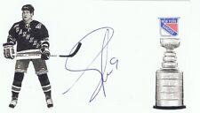 Adam Graves Autographed Signed 1994 Stanley Cup 3X5 Postcard - w/COA Rangers