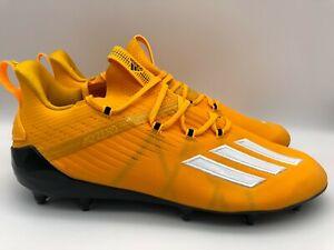 Adidas Adizero Football Cleats EH1314  Black/Yellow Men's Size 13
