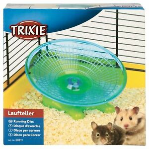 Trixie Flat Running Disc Flying Saucer Exercise Wheel for Hamsters or Mice, 17cm