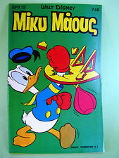 Greek Walt Disney Comics Mickey Mouse 749 Terzopoulos 1980 Great Condition