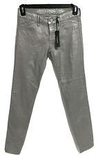 Express Jean skinny women's jean pants silver metallic size 0