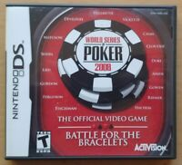 World Series of Poker 2008 Nintendo DS DS Lite 3DS 2DS Game Works Tested Complet