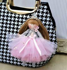 Fairy Princess doll Fabric Key ring Tilda doll Rag doll Hand made 6 inch tall