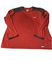 The North Face Vapor Wick Longsleeve Shirt - Mens Xxl - Red & Graphite