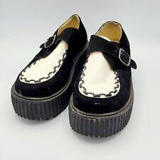 Creeper Style Bamboo Shoes Flats Punk Goth sz 8.5 Vegan Used