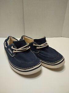 Crocs Hover Women's Size-8 Navy Blue Canvas Lace Up