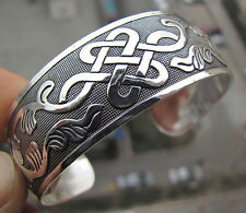 Hot! New Tibetan Tibet silver Totem Bangle Cuff Bracelet Pop US