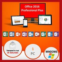 Microsoft Office 2016 Professional Plus, MS® Office✔PRO VOLLVERSION✔  Für 1 PC✔