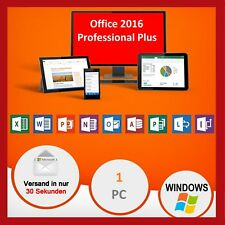 Microsoft Office 2016 Professional Plus, MS® Office✔PRO VOLLVERSION✔  Für 1 PC✔