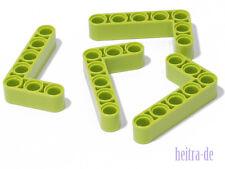 Tecnologia LEGO - 4 x liftarm Dick 3x5, 90 gradi Lime (verde chiaro)/32526 Merce Nuova