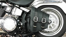 Package Deal-Swingarm Bag Hard Mount w/Leather Solo Bag! For Harley Deluxe FLSTN