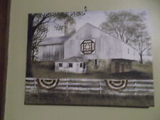 American Star Quilt Block Barn Canvas Print Billy Jacobs 12 x 16 NEW