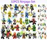 32 Stk Ninjago Mini Figures Kai Jay Sensei Wu Master Building Blocks Set Toys