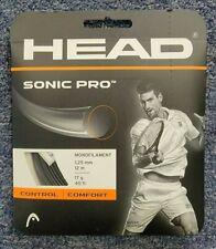 Head Sonic Pro 17 Gauge 1.25mm Tennis String Black