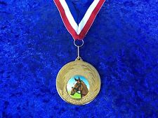 Horse Head Equestrian Pony Club Competition Medal with ribbon Bargain Trophy