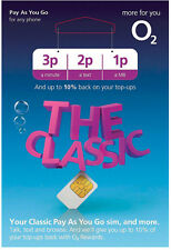 2 X O2 Classic Pay As You Go Sim Card Triple Cut Standard Micro & Nano Sim