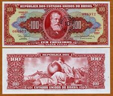 Brazil,10 centavo on 100 cruzeiros P-185a, (1966), UNC   Error