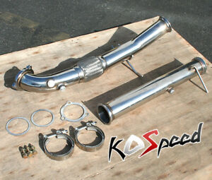 STAINLESS STEEL EXHAUST DOWN PIPE KIT FOR 04-10 VOLVO C30/C70/S40/V50 2.5L TURBO