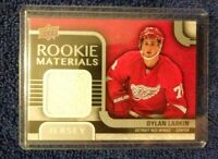 2015-16 Upper Deck Rookie Materials #RM-DL Dylan Larkin Detroit Red Wings Card