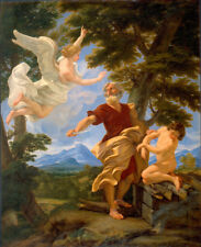 """oil painting handpainted on canvas """"Abraham's Sacrifice of Isaac """"@NO6894"""
