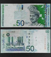 Malaysia Rm 50 Ringgit x 1 pcs ,Sign Zeti  GEM UNC Prefix PL 8527869,70,71