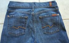Womens 7 FOR ALL MANKIND jeans DARK DENIM BOOT CUT USA Sz 25 (x 32 inseam)