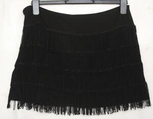 NEXT Black Short Fringed1920's Flapper Style Skirt Size 10