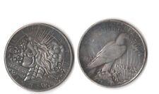 Fantasy Issue Novelty Coin 1935 Peace Dollar W/ Skull Zombie Head