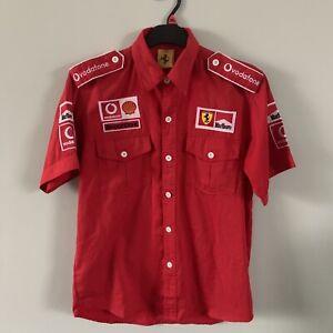 F1 Formula One Ferrari Shirt Pit Crew Marlboro Shell Bridgestone Racing Shirt Si