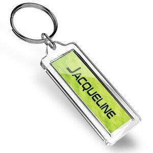Jacqueline Name Yellow Tennis Ball Keyring   #136978