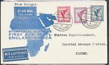 GERMANY 1931 IMPERIAL AIRWAYS COVER TO KISUMU