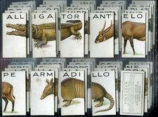 Tobacco Card Set, WD & HO Wills, ANIMALLOYS, Animal Sectional Puzzles, 1934