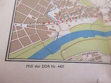 um 1960 MDI der DDR - Wanderkarte DRESDNER HEIDE mit Reklame der Zeit