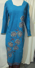 new  style beautiful gold embroidery silk    Cotton  salwar kameez Size3 XL48