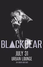 BLACKBEAR 2016 SALT LAKE CONCERT TOUR POSTER-Alt Hip Hop/R&B, Electronica Music