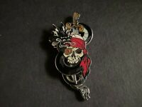 Pirates of the Caribbean - Skull with Sliding Sword Disney Pin 57838