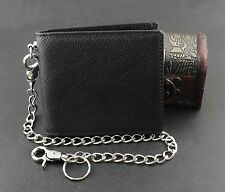 Guarantee High Quality ! Real Leather Wallet Purse for Mens With Security Chain